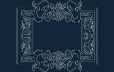 Celtic Font Frame dxf file