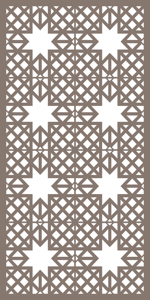 Modular Decorative Screen Panel Pattern Vector Free Vector