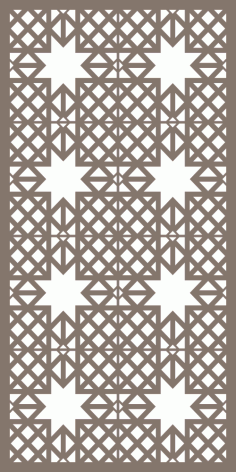 Modular Decorative Screen Panel Pattern Vector Free Vector