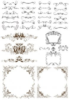 Decorative Border Design Elements Free Vector