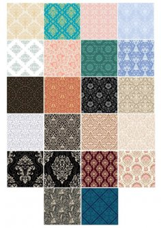Background Pattern Set Free Vector