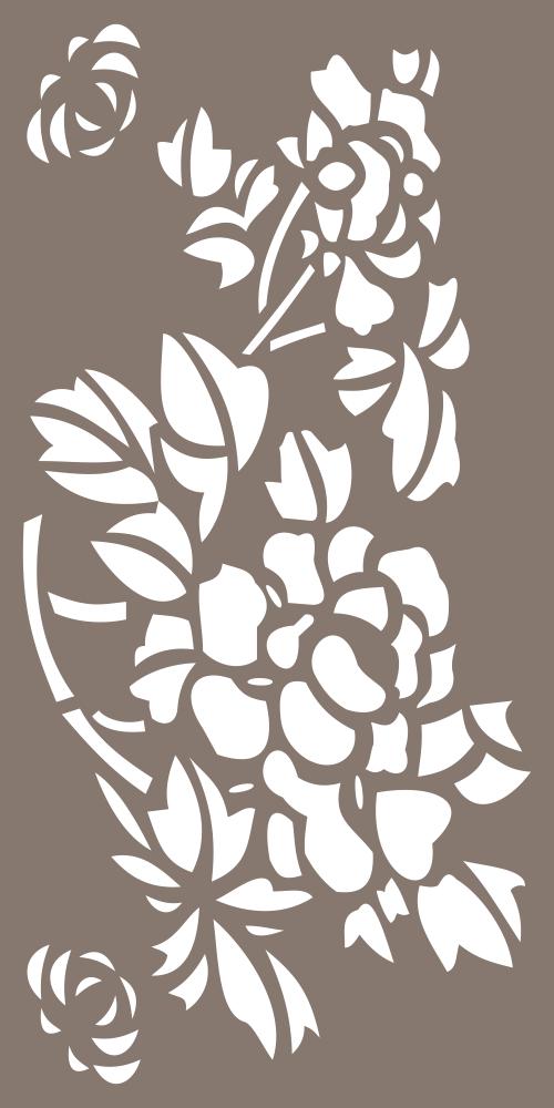 Flower Decor Privacy Screen Design Free Vector