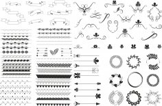 Handdrawn Ornaments Free Vector