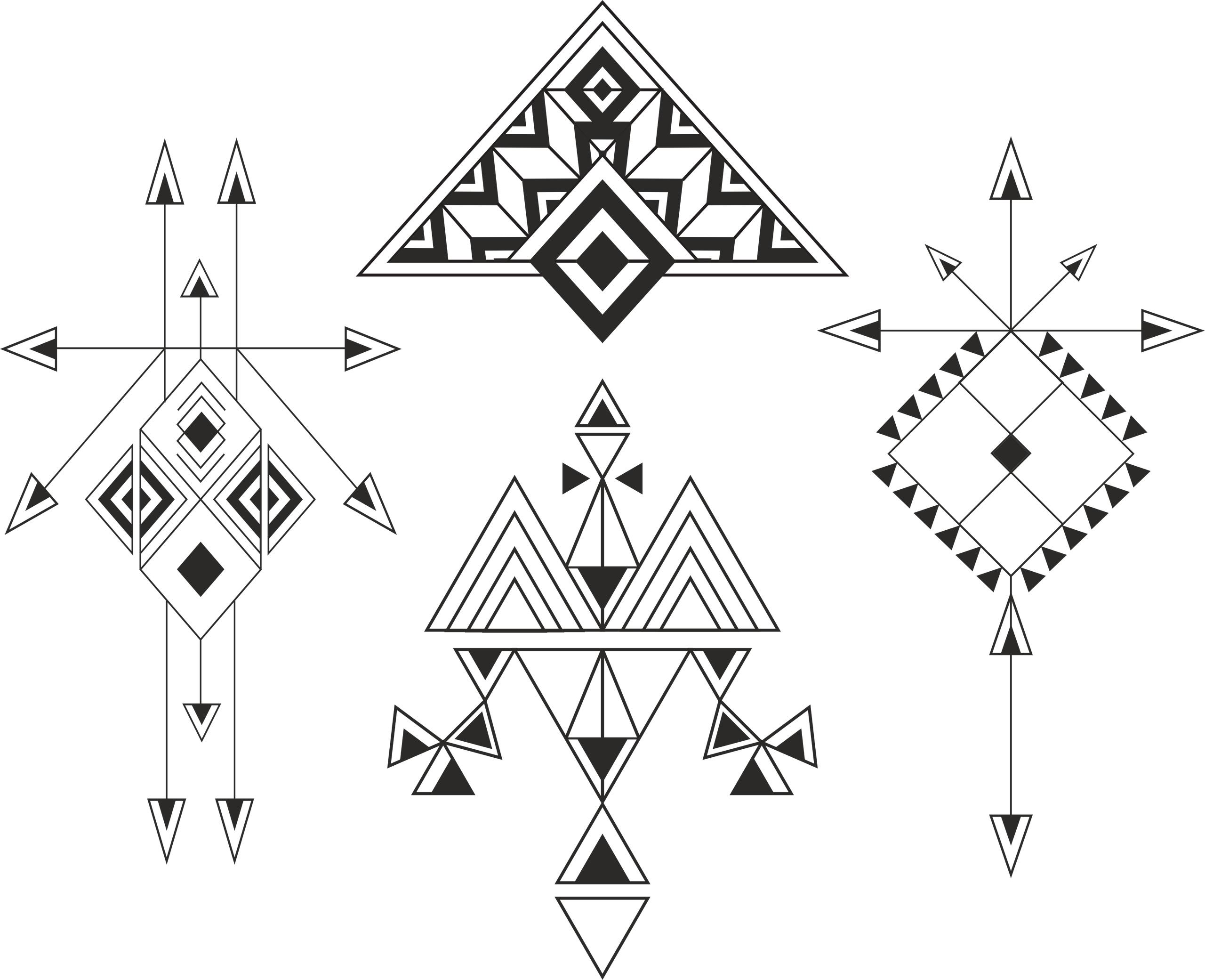 Ethnic Elements Free Vector