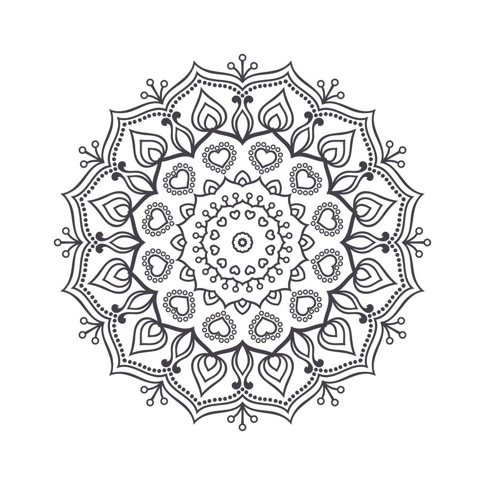 Mandala For Coloring 2 Free Vector