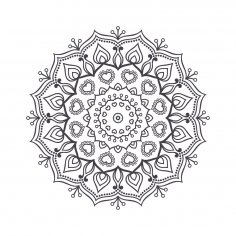 Mandala For Coloring 2 Free Vector