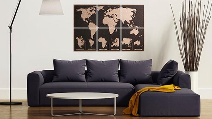 Laser Cut Engraved World Map On Cork Tiles Free Vector