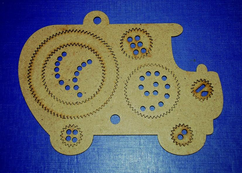 Laser Cut Spiral Drawing Kit Wooden Spirograph Free Vector