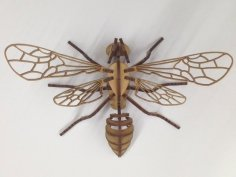 Laser Cut Bee Puzzle 3mm Acrylic Plywood DXF File