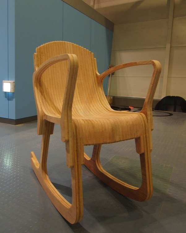 Laser Cut Layered Rocking Chair DWG File
