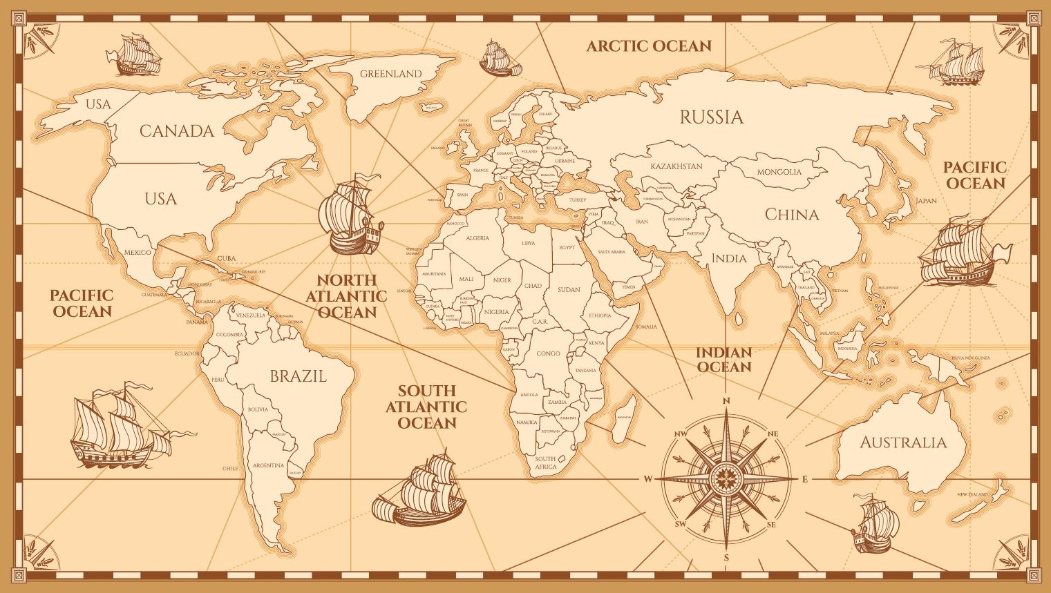 Laser Cut Engraved World Map Free Vector