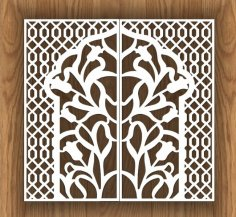 Laser Cut Decorative Screen Design Free Vector