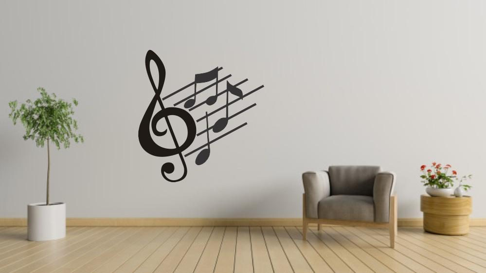 Laser Cut Music Notes Wall Art Free Vector