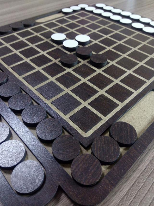 Laser Cut Reversi Board Game Free Vector