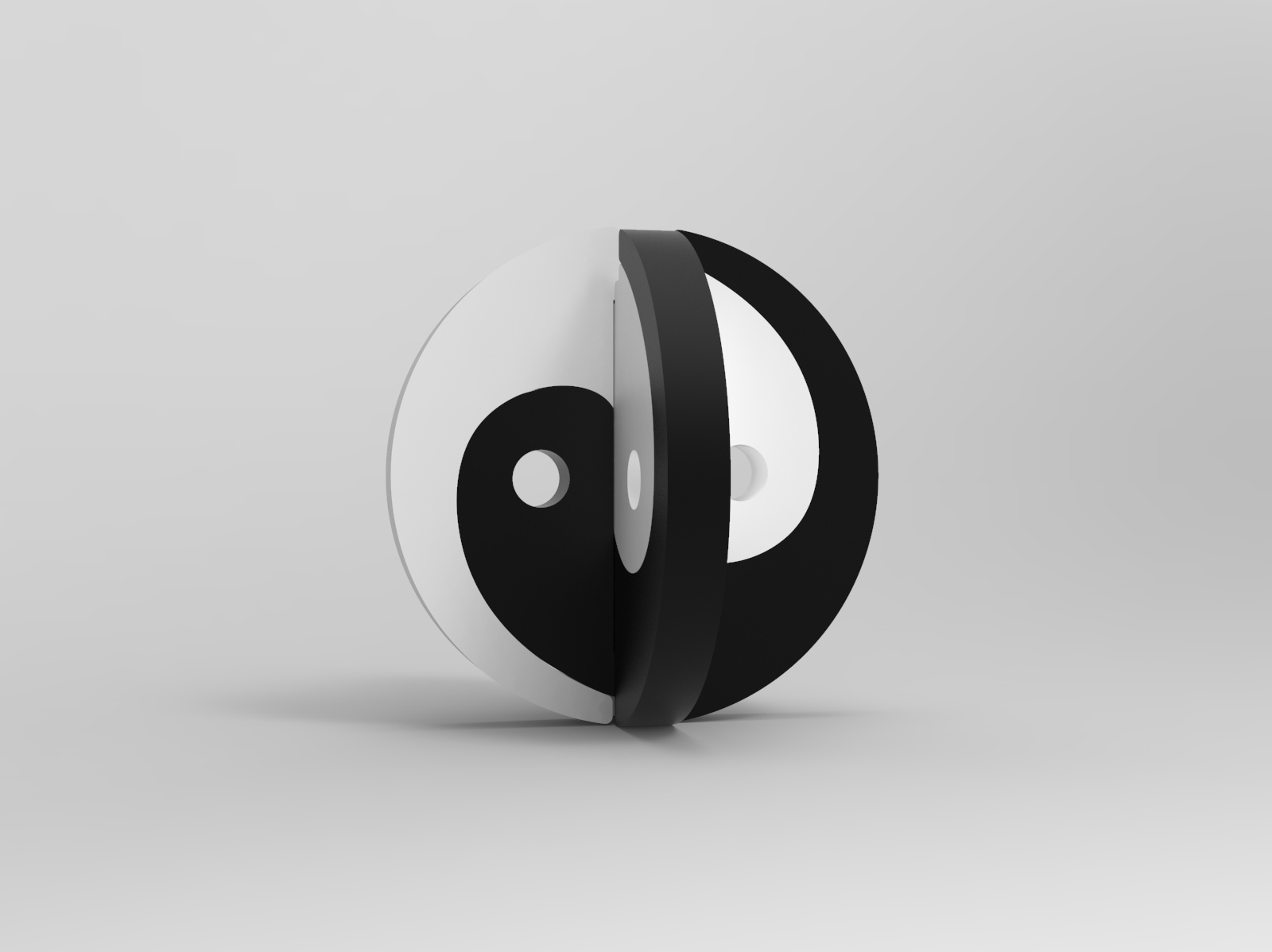Laser Cut Yin And Yang Puzzle 8mm Plywood DXF File