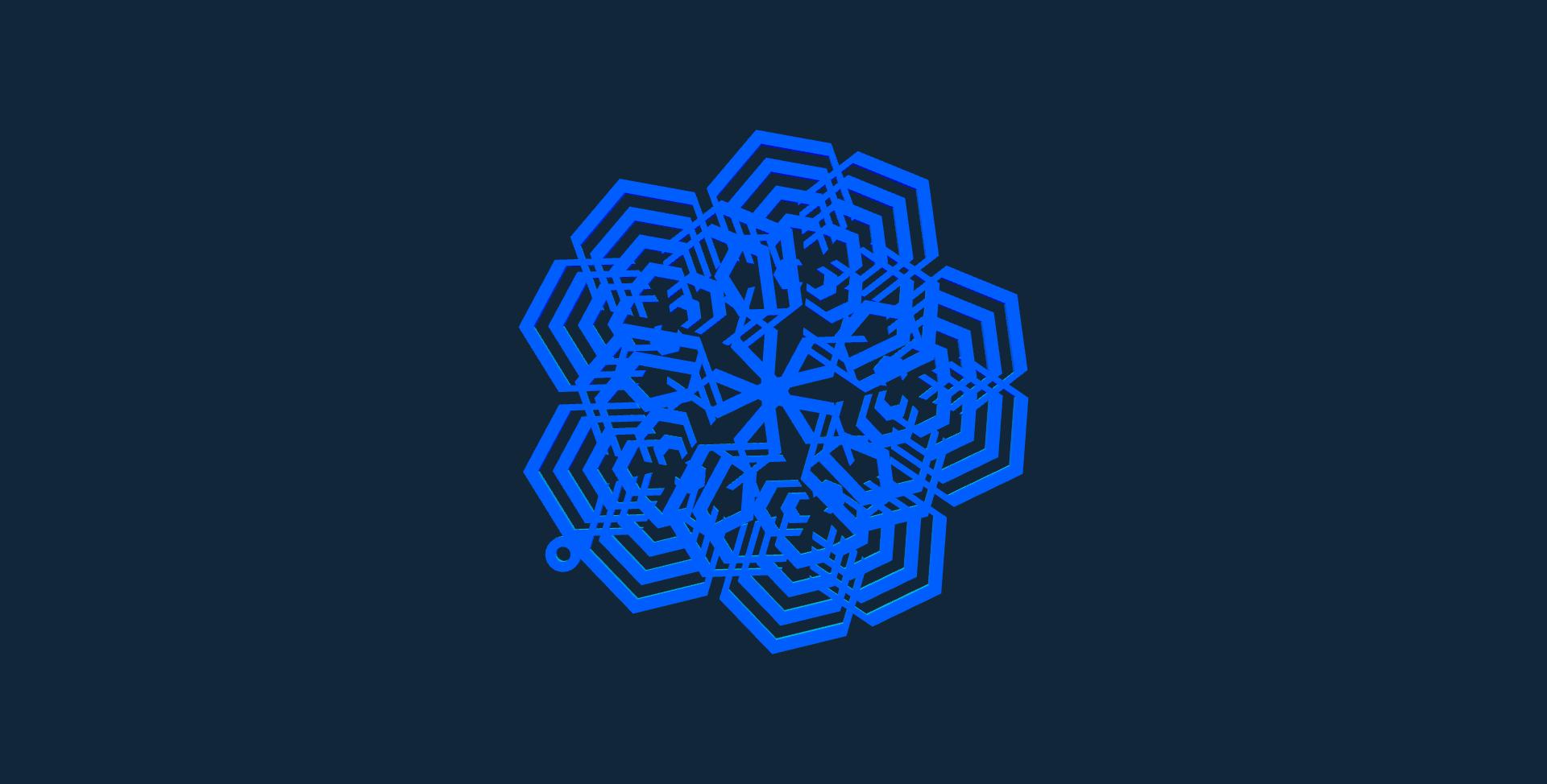 Snowflake design 8 stl file