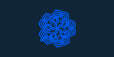 Snowflake design 8 stl file