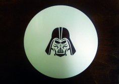 Laser Cut Engrave Darth Vader Free Vector