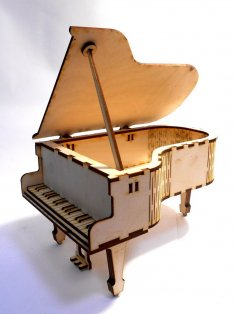 Laser Cut Piano Shaped Box Free Vector