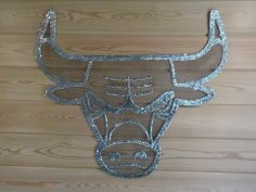 Laser Cut Bull Wall Art Free Vector