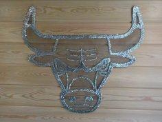 Laser Cut Bull Wall Art Free Vector