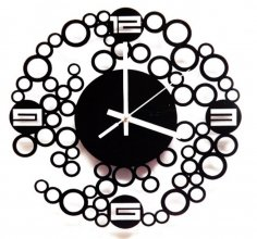 Laser Cut Contemporary Wall Clock Free Vector