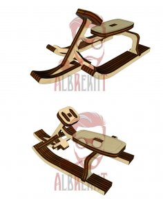 Laser Cut Sled Carriage Free Vector
