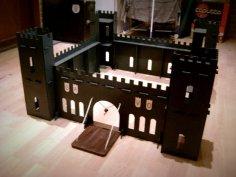 Laser Cut Castle Template Free Vector