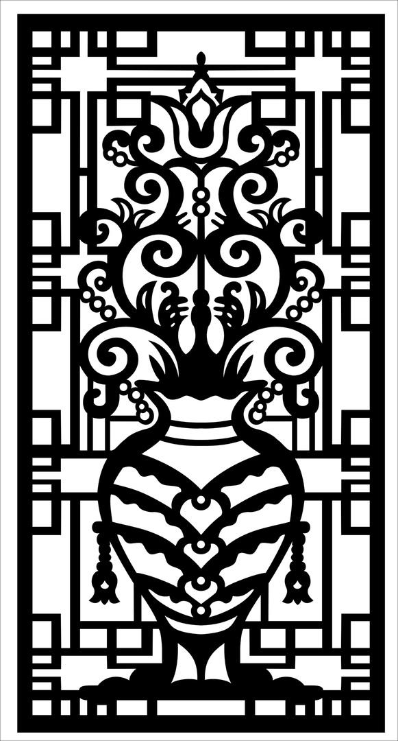 Decorative Screen Laser Cutting Pattern SVG File