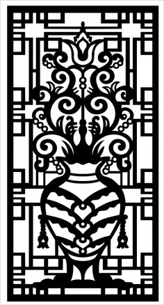 Decorative Screen Laser Cutting Pattern SVG File