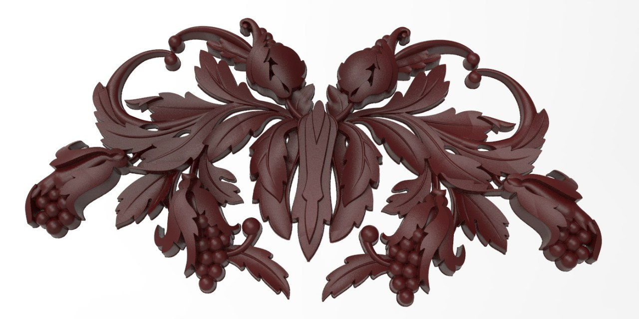 Wood Relief of Bunches of Grapes for CNC Router Stl File