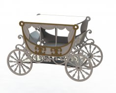 Laser Cut Cake Stand Carriage DXF File