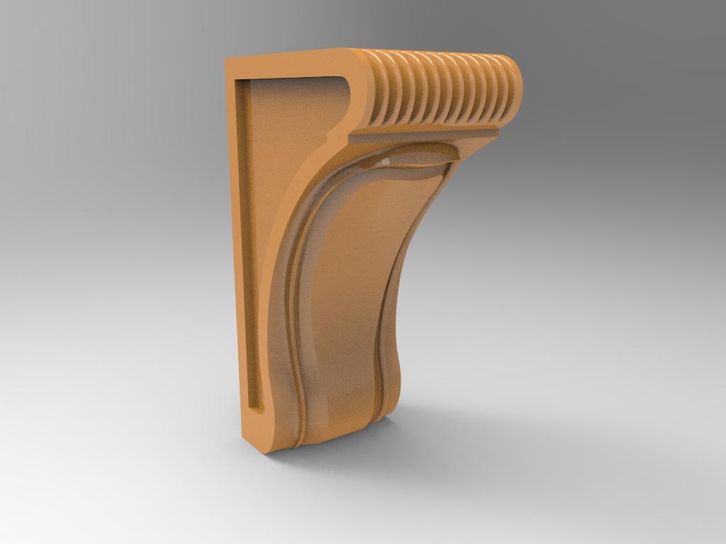 CNC Router 3D Corbel Model Stl File