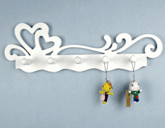 Laser Cut Key Holder Wall Hanging Free Vector