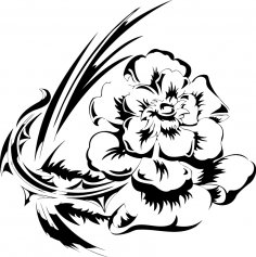 Flowers Vector illustration Tattoo Design Free Vector