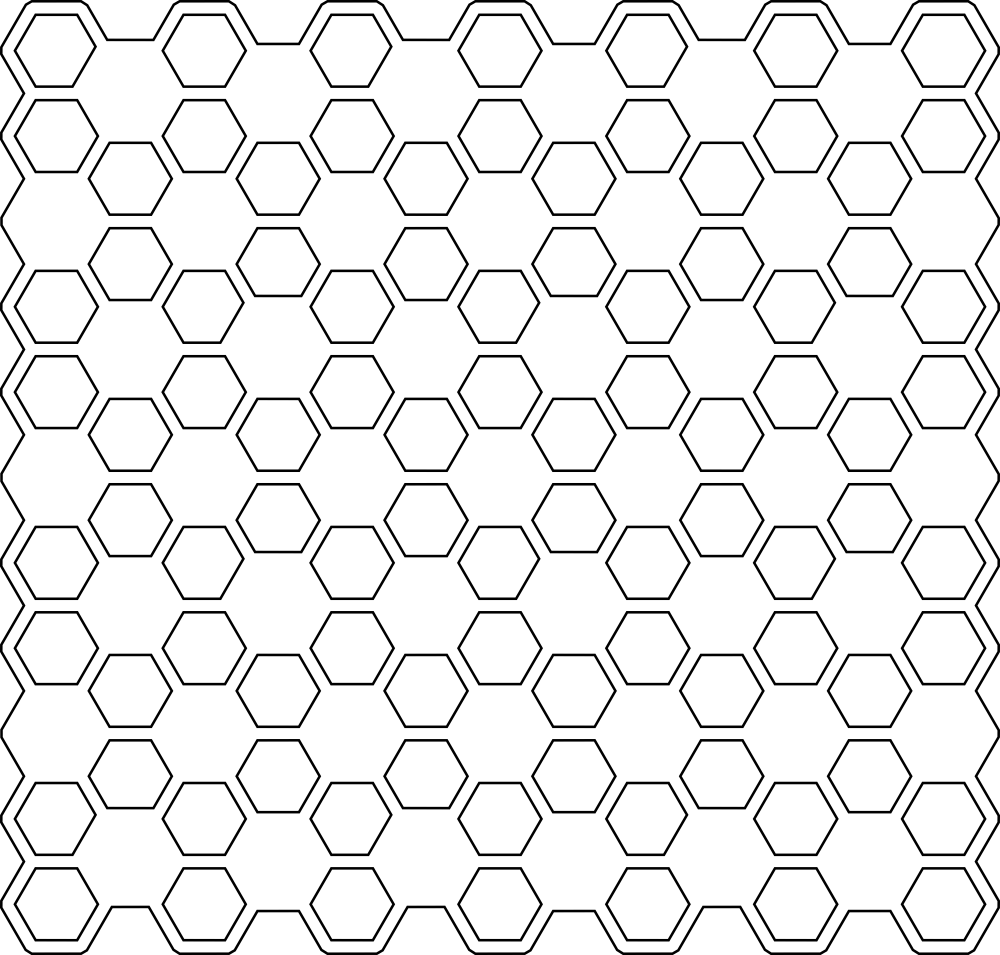 Honey Comb Vector Seamless Pattern Free Vector