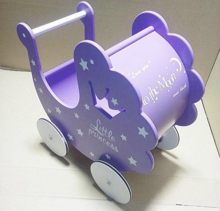 Laser Cut Baby Stroller Free Vector