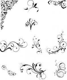 Florical Design Elements Free Vector