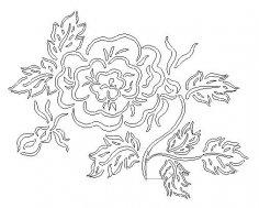Flower dxf file