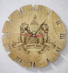 Laser Cut FC Zenit Saint Petersburg Wall Clock Free Vector