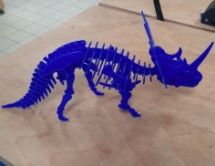 Laser Cut Styracosaurus Dinosaur 3D Puzzle 3mm DXF File