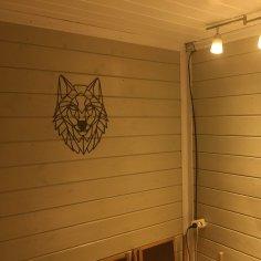 Laser Cut Wolf Wall Decor DXF File