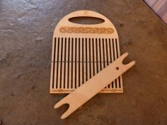 Laser Cut Band Weaving Loom 4mm Beech Plywood DXF File