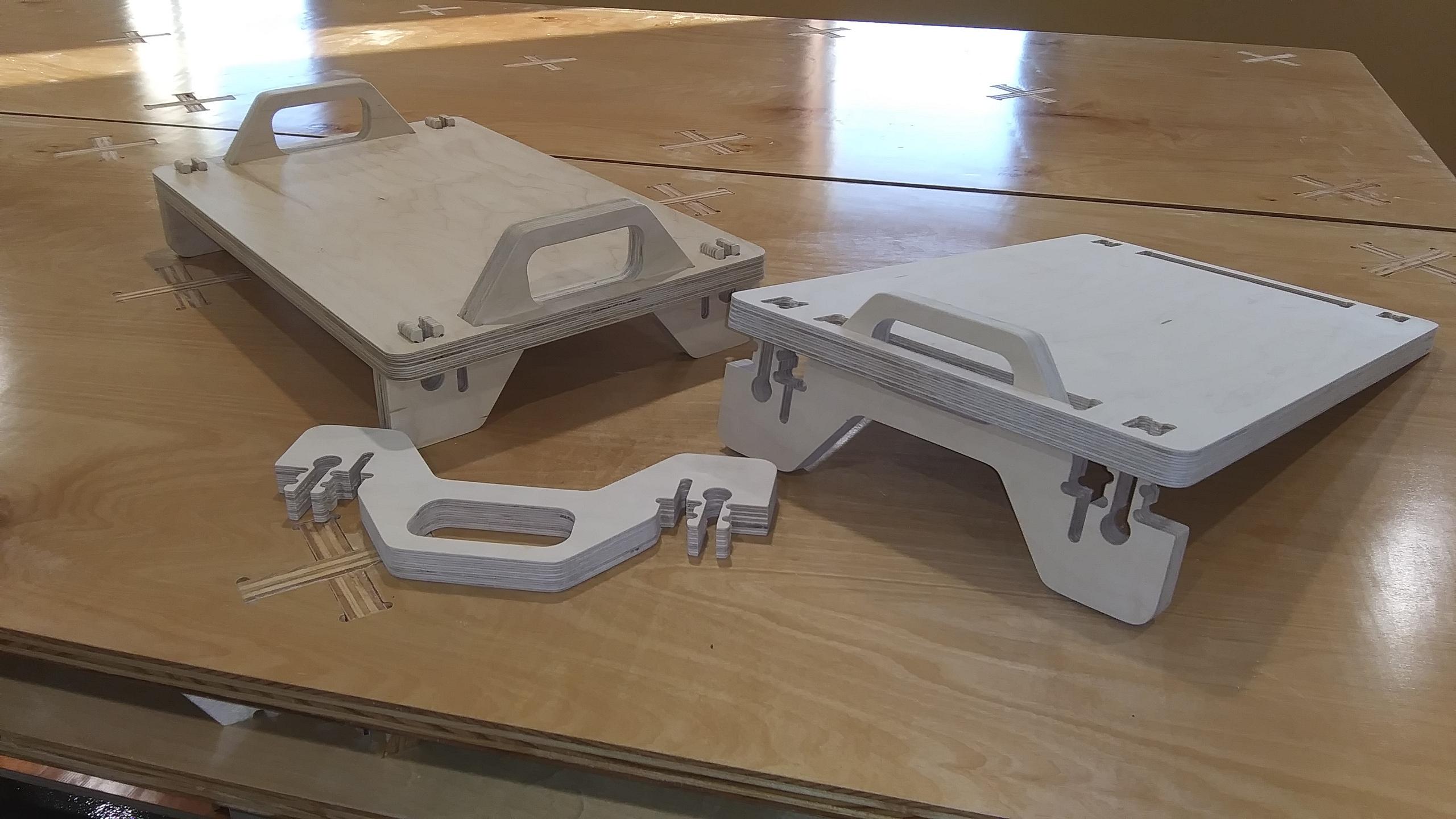 Laser Cut TV Tray DXF File