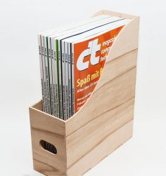Laser Cut Magazine Holder Magazine Organizer Free Vector