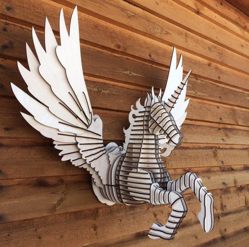 Laser Cut Pegasus Wall Decor Free Vector