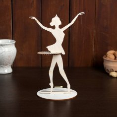 Laser Cut Ballerina Napkin Holder Free Vector