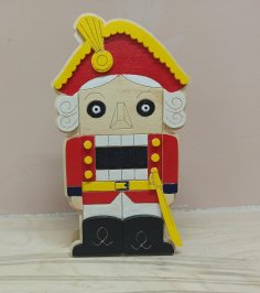 Laser Cut Nutcracker Pencil Holder Free Vector