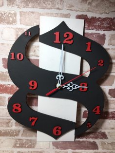 Laser Cut Decorative Modern And Contemporary Wall Clock Free Vector