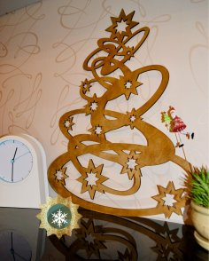 Laser Cut Christmas Tree Decorations Wooden Free Vector